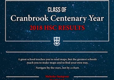 A Message from the Headmaster - 2018 HSC Results